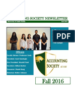 accounting society fall 2016 newsletter