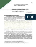 1. Bases Histórico Epistemológicas de la Psicología Cognitiva