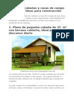 Planos de Cabañas y Casas de Campo Pequeñas