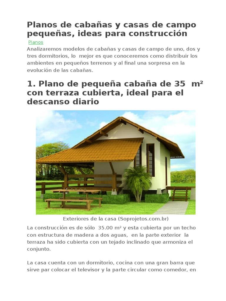 Planos de caba as y casas de campo peque as - Planos de casas pequenas de campo ...