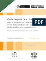 GUIAS GPC Esquizofrenia Pacientes . (2)MINISTERIO