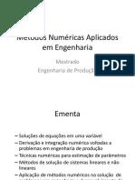 Métodos Numéricas Aplicados Em Engenharia