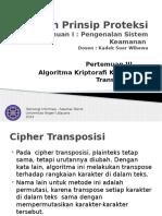 Pertemuan 3 Kriptografi Klasik Teknik Transposisi
