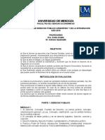 Programa de Derecho Publico y de La Integracion 2015