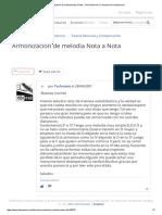 Armonizacion de Melodia Nota a Nota _ Teoría Musical y Composición _ Hispasonic