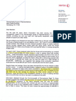 Xerox Letter To PA House of Representatives