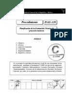 P-139-AU-1 (Planificación de La Evaluación Técnica de Proyectos Menores