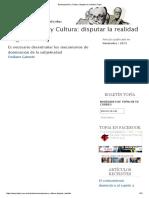 Emancipación y Cultura_ Disputar La Realidad _ Topía