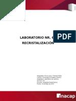 Lab 6, Recristalizacion