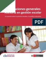 Asesoria en Gestion Escolar Con Liderazgo Pedagogico Ccesa007