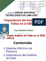 Charla UNTELS 2017 Análisis de Fallas SEIN