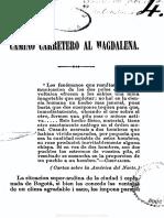 Camacho Roldan, Camino Magdalena 1858