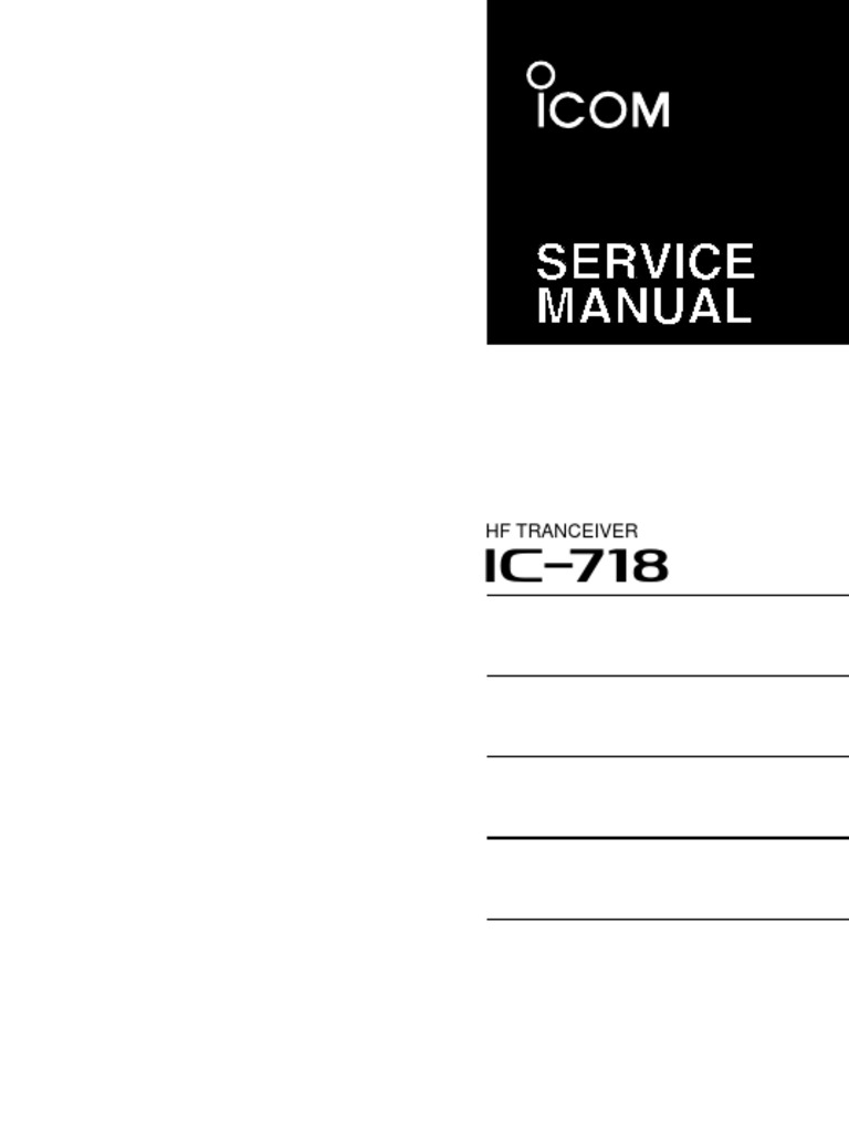 ICOM IC 718 | Amplifier | Detector (Radio)