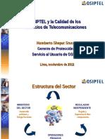 Osiptel y La Calidad de Los Servicios de Telecomunicaciones