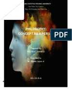 Philosophy-Concept as a Person