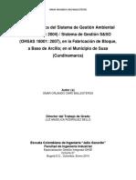 Guía Didáctica Del Sistema de Gestión Ambiental y Sistema de Gestión S&SO, En La Fabricación de B_2