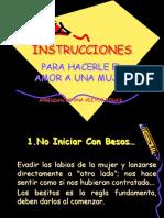 INSTRUCCIONES COMO HACER EL AMOR A UNA MUJER
