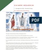 Aparições de Jacareí - SP - Mensagens de 2001 – Fevereiro & Março