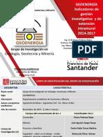 Indicadores de Gestión Geoenergia 2014-2017