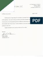 lisa hendler signed letter of recommendation april 2017