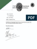 Civil Service File for Roy Oliver