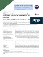 Mejoramiento de Los Procesos en El Quirófano Mediante Metodología de Toyota Rev Col Anest 2014