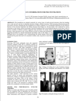 Seismic Design Considerations for Pile Foundation Emgineering