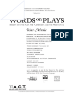 War Music Words on Plays (2009)