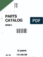Canon PC 11 Parts Catalog