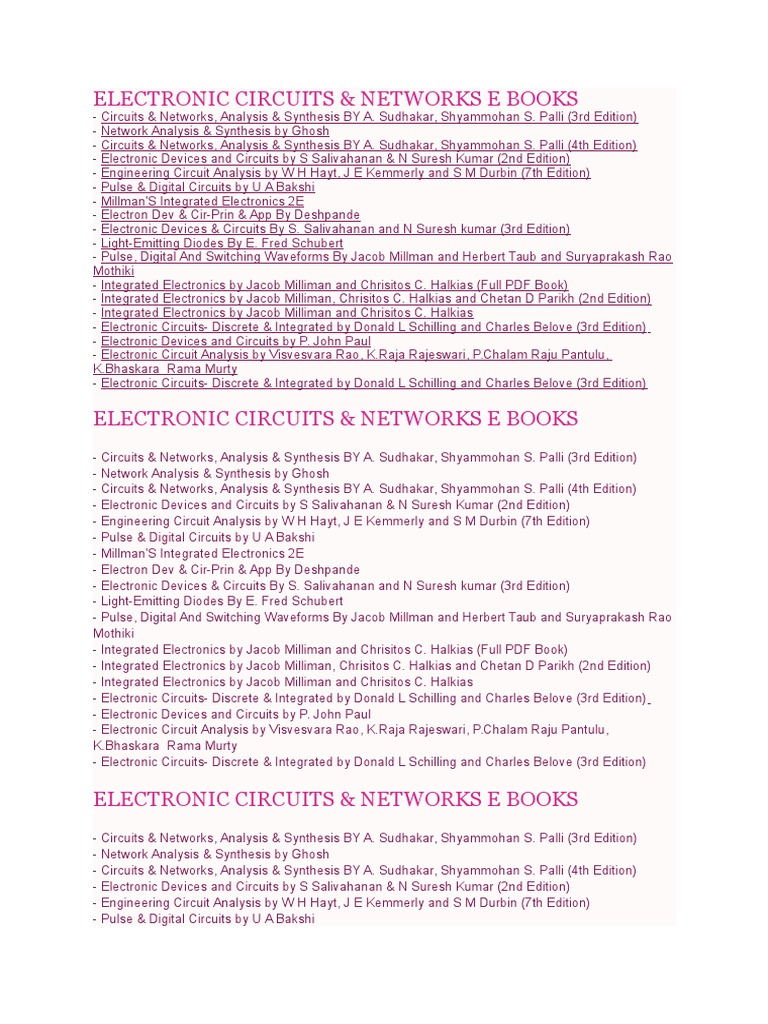 work 1232docx electronic circuits network analysis electrical