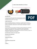 Tipos de Cables Para Maquinas Electricas