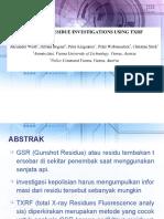 GSR Investigation Using TRXF