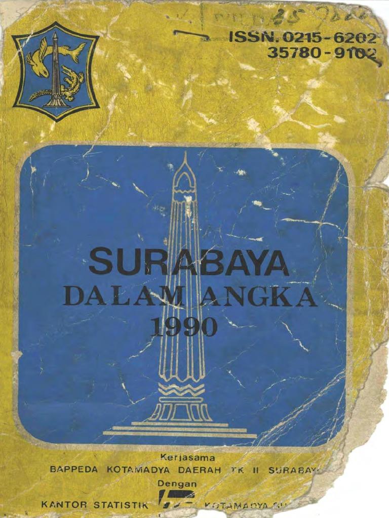 kota surabaya dalam angka 1990