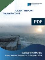 SVENDBORG MÆRSK Marine Accident Report