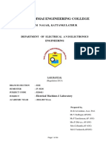 EE6411 Electrical Machines I Laboratory
