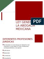 LEY GENERAL DE LA ABOGACÍA MEXICANA