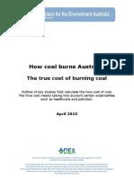 How Coal Burns Aust. - True Cost of Burning Coal 04-13