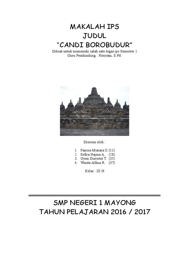117314657 Makalah Candi Borobudur Lengkap
