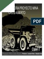 Clase 2 - Catedra Proyecto Rajo - Valorizacion Economica e Introduccion a La Optimizacion
