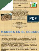 Madera en El Ecuador y Su Exportacion