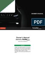 Xuv500 Owners Manual