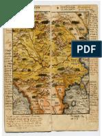 Harta 1542 Ioan Honterus -Teritoriul Romaniei