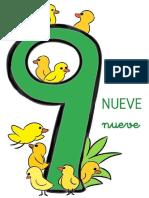 Fichas de Números Para Niños 9