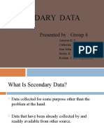 69249039 Research Methodology Primary Secondary Data