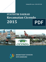 Statistik Daerah Kecamatan Cicendo 2015