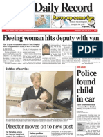 Front page - York Daily Record/Sunday News, June 26, 2010