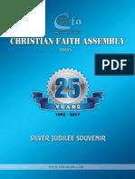 Christian Faith Assembly Souvenir 2017
