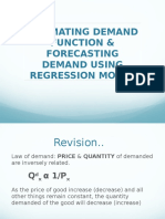 Demand Function and Regression Model