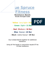Blue Spruce Fitness, Band Strength Chart