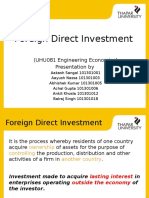 Foriegn Direct Investment